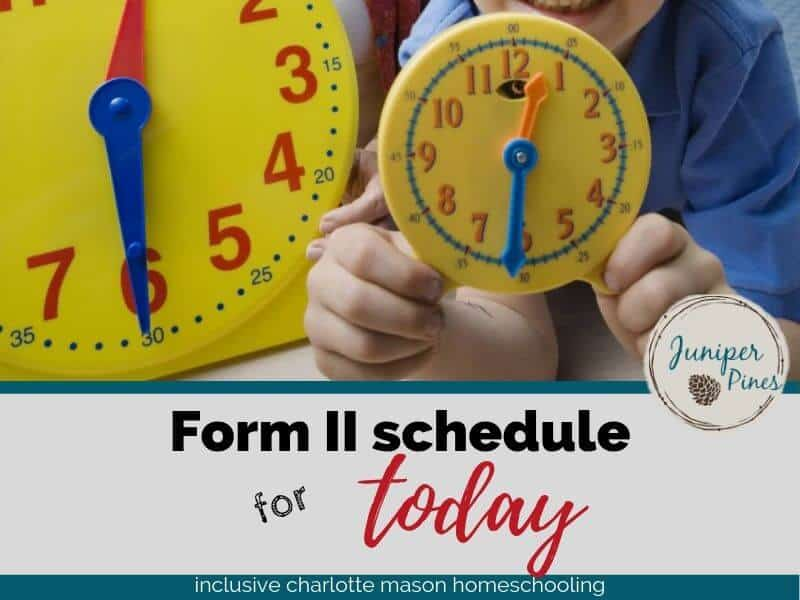 form 2 timetables schedule for featured image