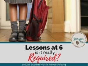 are lessons required at 6