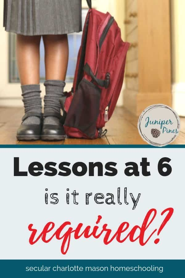 Lessons at 6: is it really required?